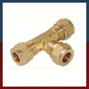 Brass Compression Tees Fittings Connectors